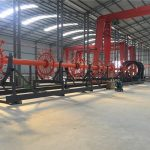 konstruksi pile cage mesin las seam welder dengan ISO